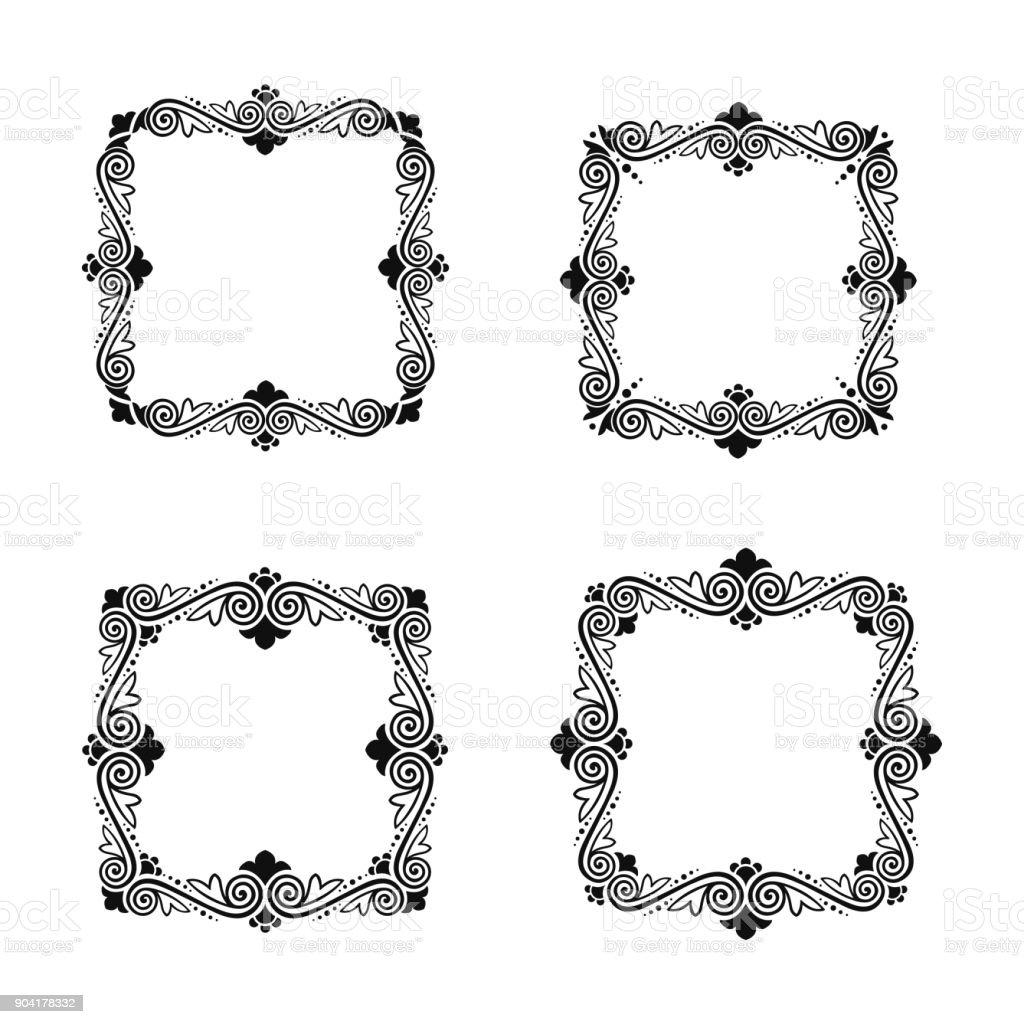 Ilustración de Conjunto De Marcos Clásicos Vectoriales Para El ...