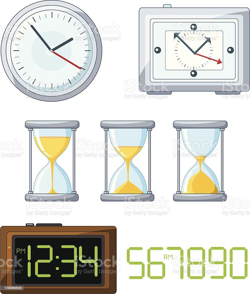 Set of vector clock royalty-free stock vector art
