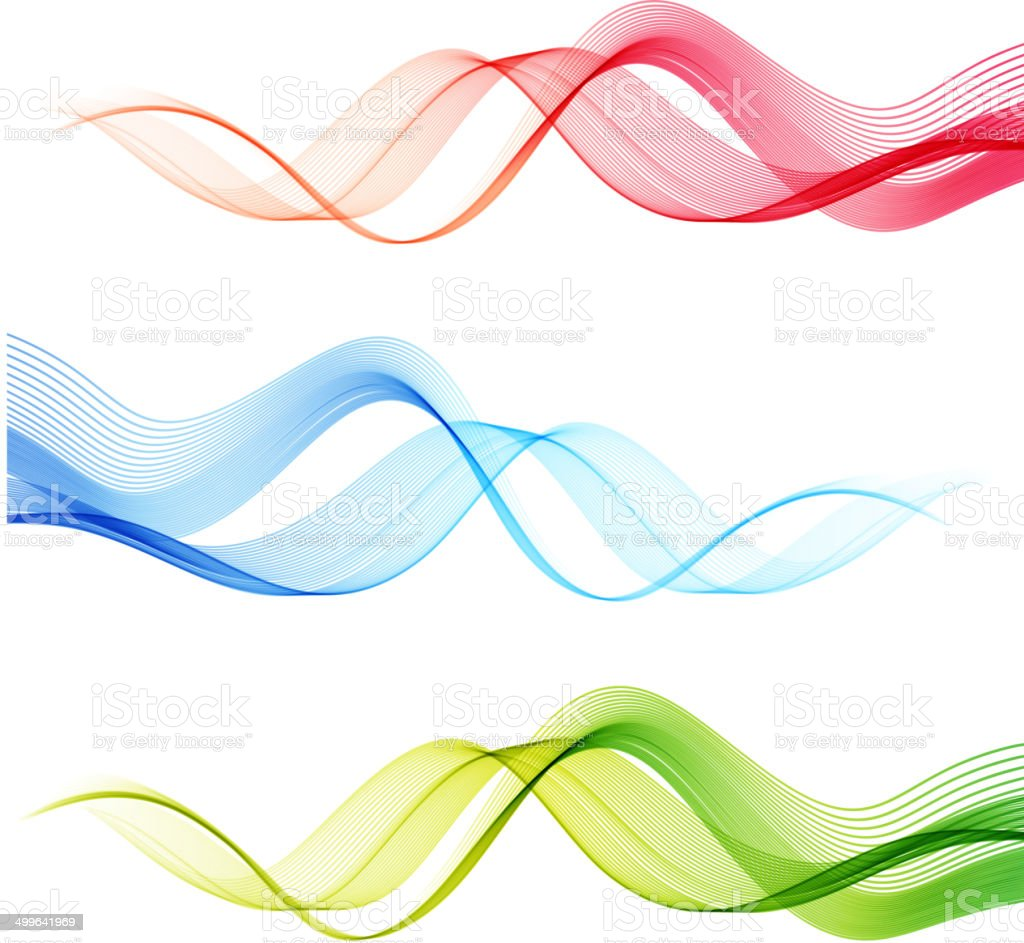 Set of vector color curve lines design element stock for Architecture courbe