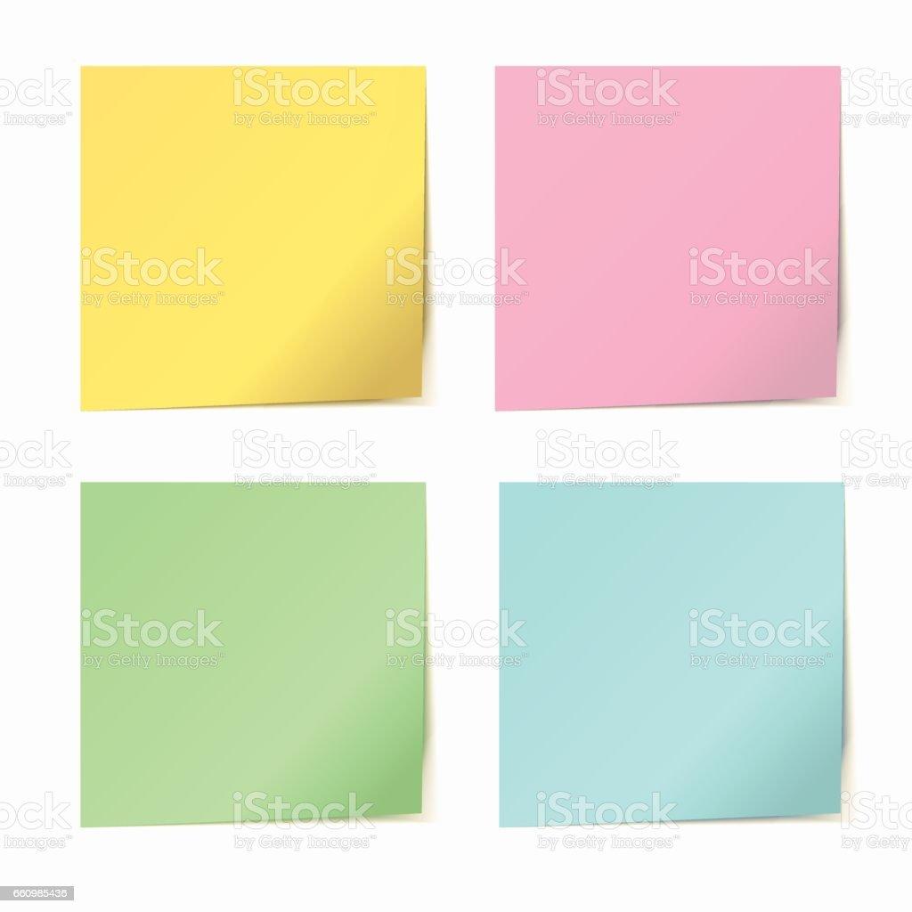 Satz von Vektor Farbe Papier Aufkleber – Vektorgrafik