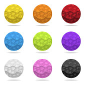 Set of Vector Colorful Magic Spheres with Shadow. Colored Abstract Balls. Paper Effect. Vector illustration for Your Design, Web.