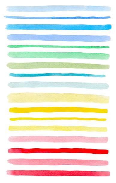 ベクトル カラフルな水彩線のセット - 線点のイラスト素材/クリップアート素材/マンガ素材/アイコン素材
