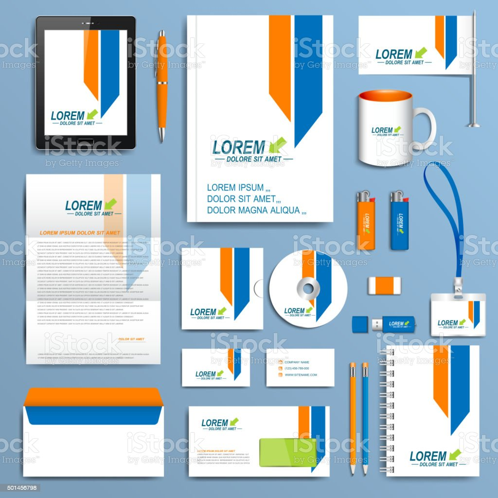 Set of vector corporate identity template modern business stationery set of vector corporate identity template modern business stationery design royalty free set of accmission Images