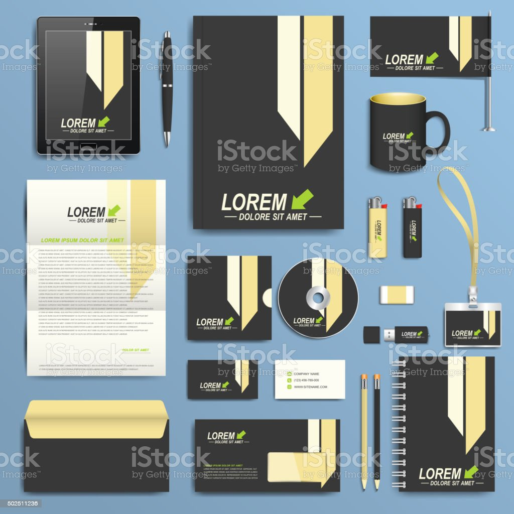 Set of vector corporate identity template modern business stationery set of vector corporate identity template modern business stationery design royalty free set of wajeb Image collections