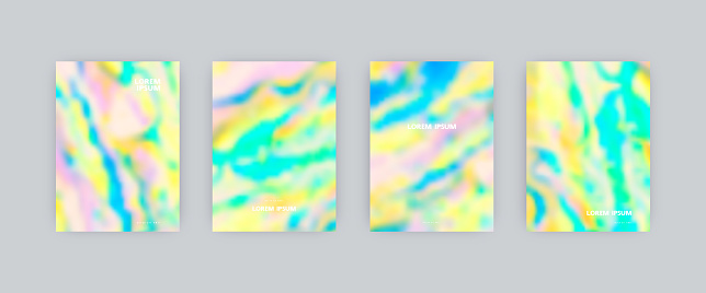 Set of vector cover templates