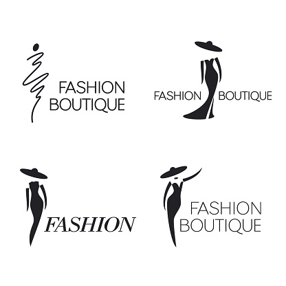 Set of vector  design template. Fashion sign.