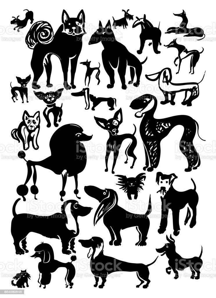 Set of vector Dogs 2018. – artystyczna grafika wektorowa