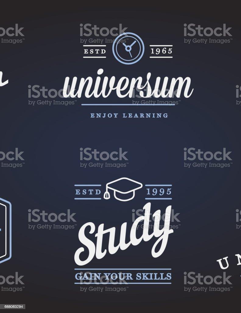 Satz von Bildung Symbole Vektorgrafik kann als Symbol oder in Premium-Qualität verwendet werden – Vektorgrafik