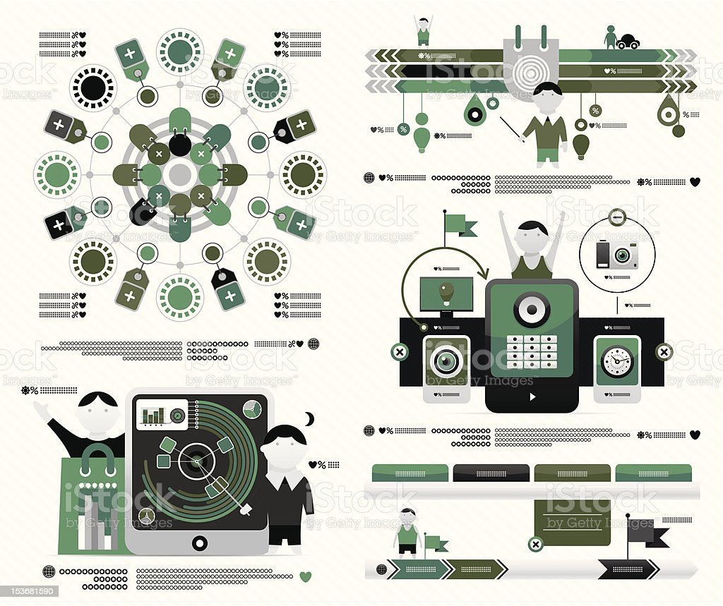 set of vector element infographics royalty-free stock vector art