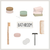 eco, green and zero waste lifestyle for bathroom