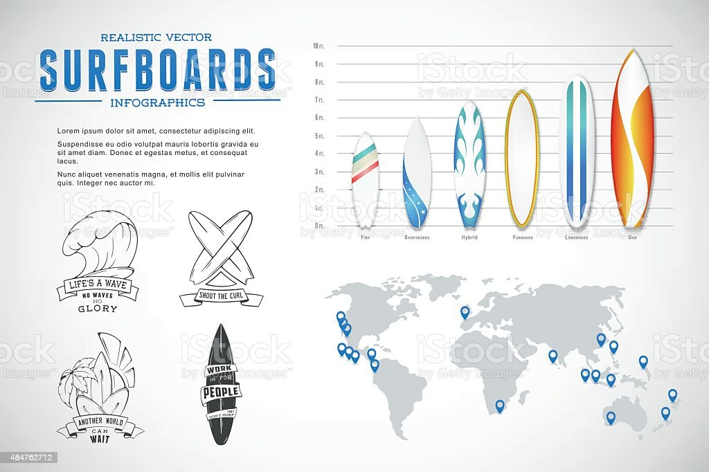 Set of vector elements infographics and lettering vector art illustration