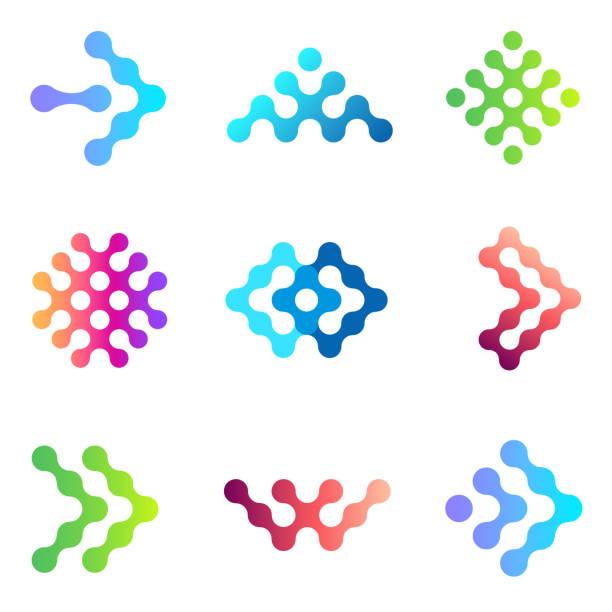 Set of vector emblem icon design for business Set of vector emblem icon design for business w logo stock illustrations