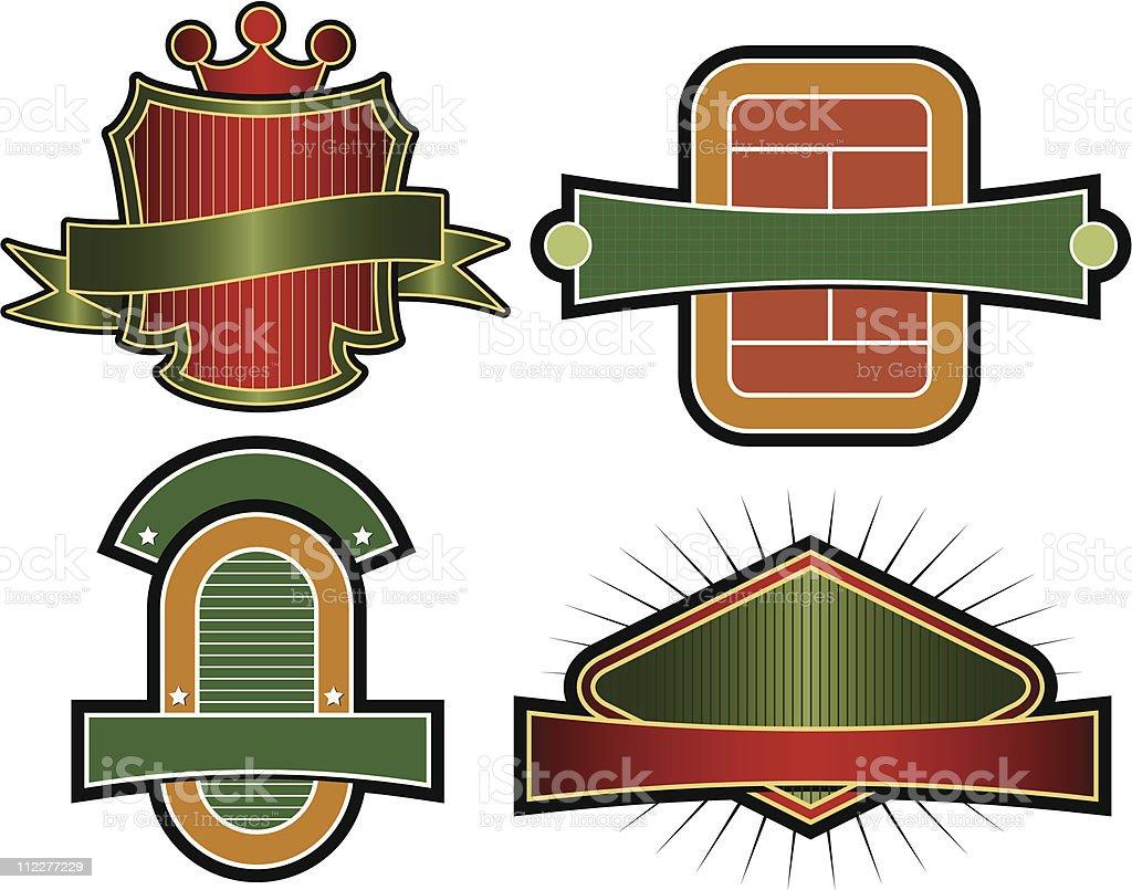 Set of Vector Emblems & Crests royalty-free set of vector emblems crests stock vector art & more images of banner - sign