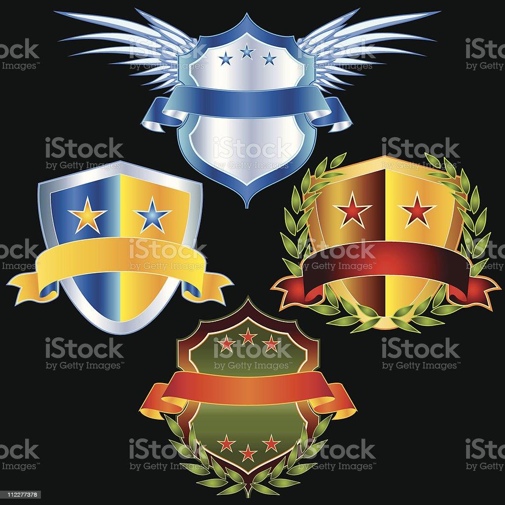 Conjunto de vetor Emblems & detalhes - ilustração de arte em vetor