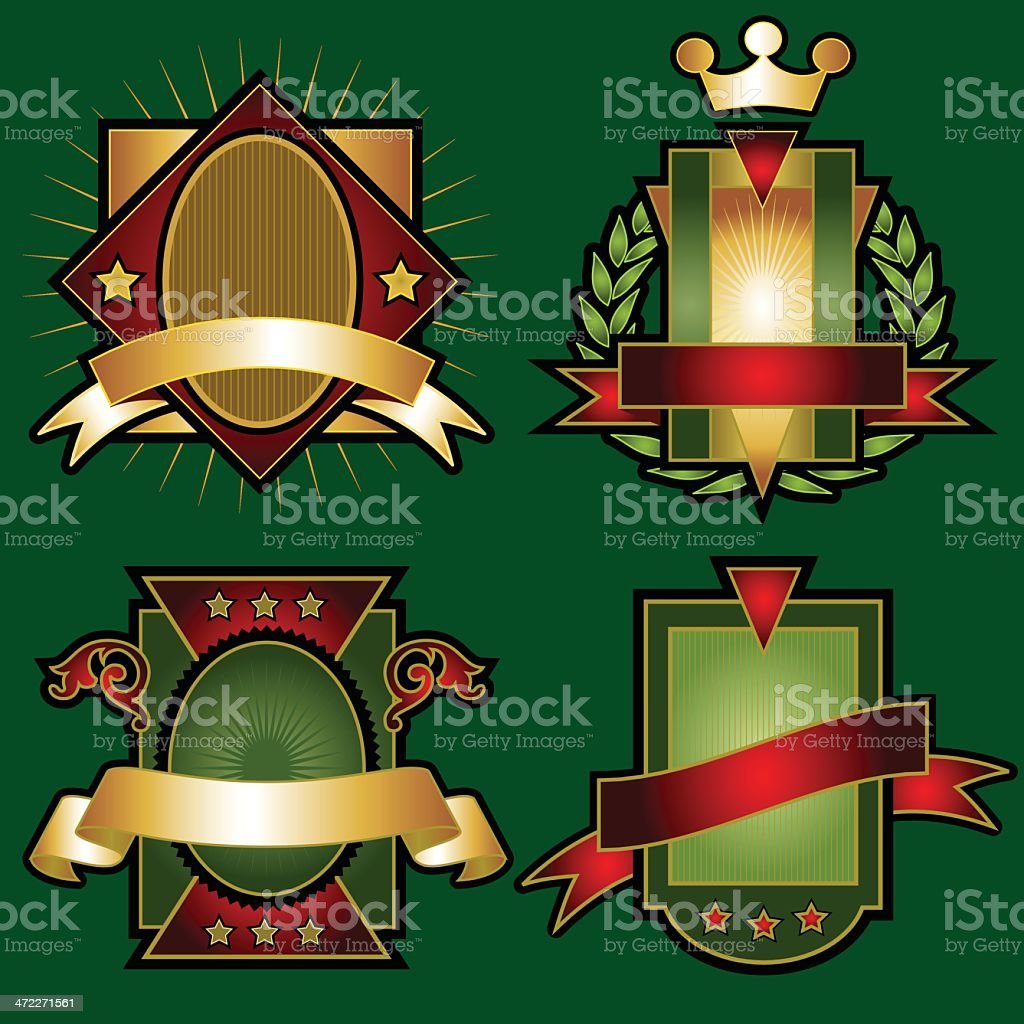 Set of Vector Emblems & Crests royalty-free stock vector art