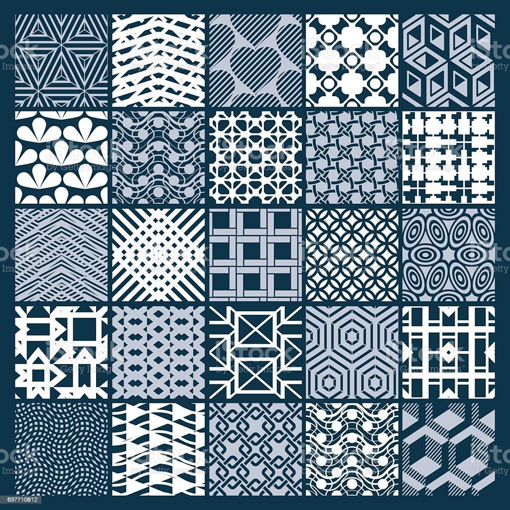 ef6f14ffd Ilustración de Conjunto De Vector De Interminables Patrón Geométrico ...