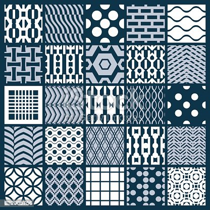 Set Of Vector Endless Geometric Patterns With Different