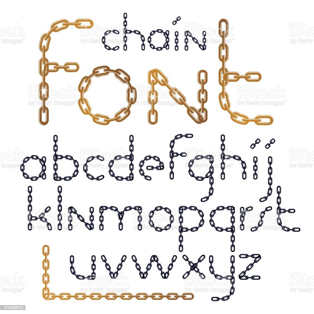 Verzameling Van Vector Engelse Alfabetletters Geïsoleerd