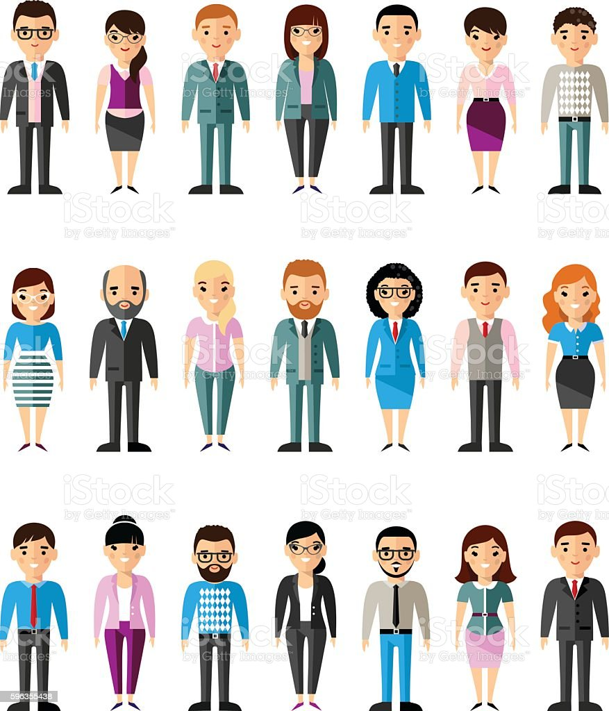 Set of vector european business peoples royalty-free set of vector european business peoples stock vector art & more images of adult