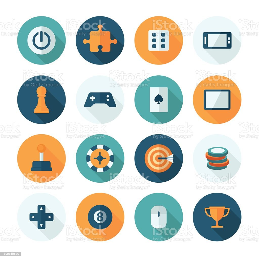Set of vector flat design concept icons vector art illustration