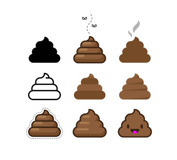 Set of Vector Flat Icons Shit. Bunch of Brown Shit Set of Vector Flat Icons Shit. Bunch of Brown Shit feces stock illustrations