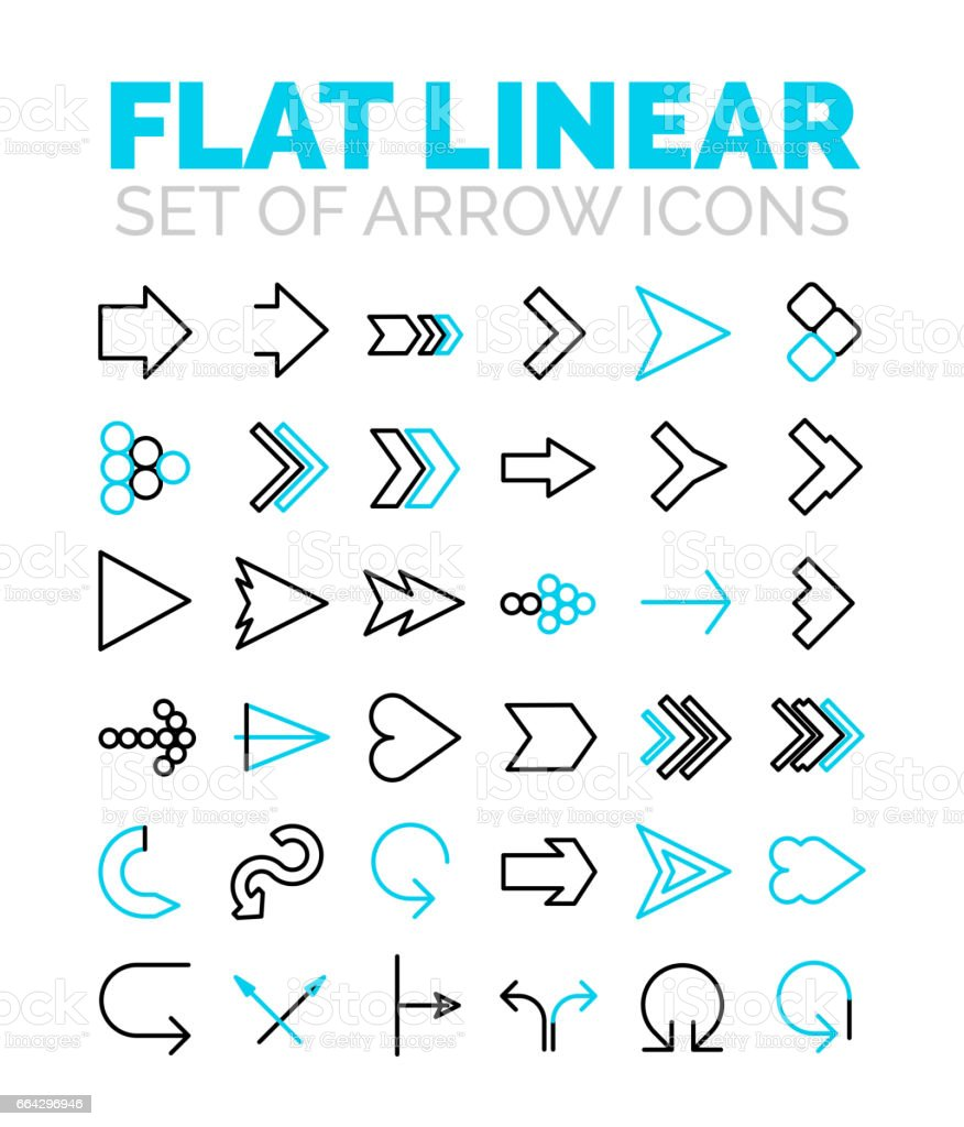 Set of vector flat linear premium icons vector art illustration