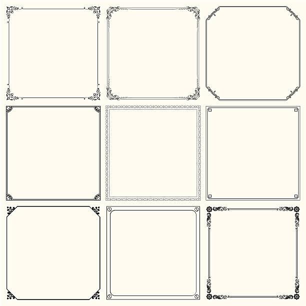 一連のベクトルフレーム - 装飾フレーム点のイラスト素材/クリップアート素材/マンガ素材/アイコン素材
