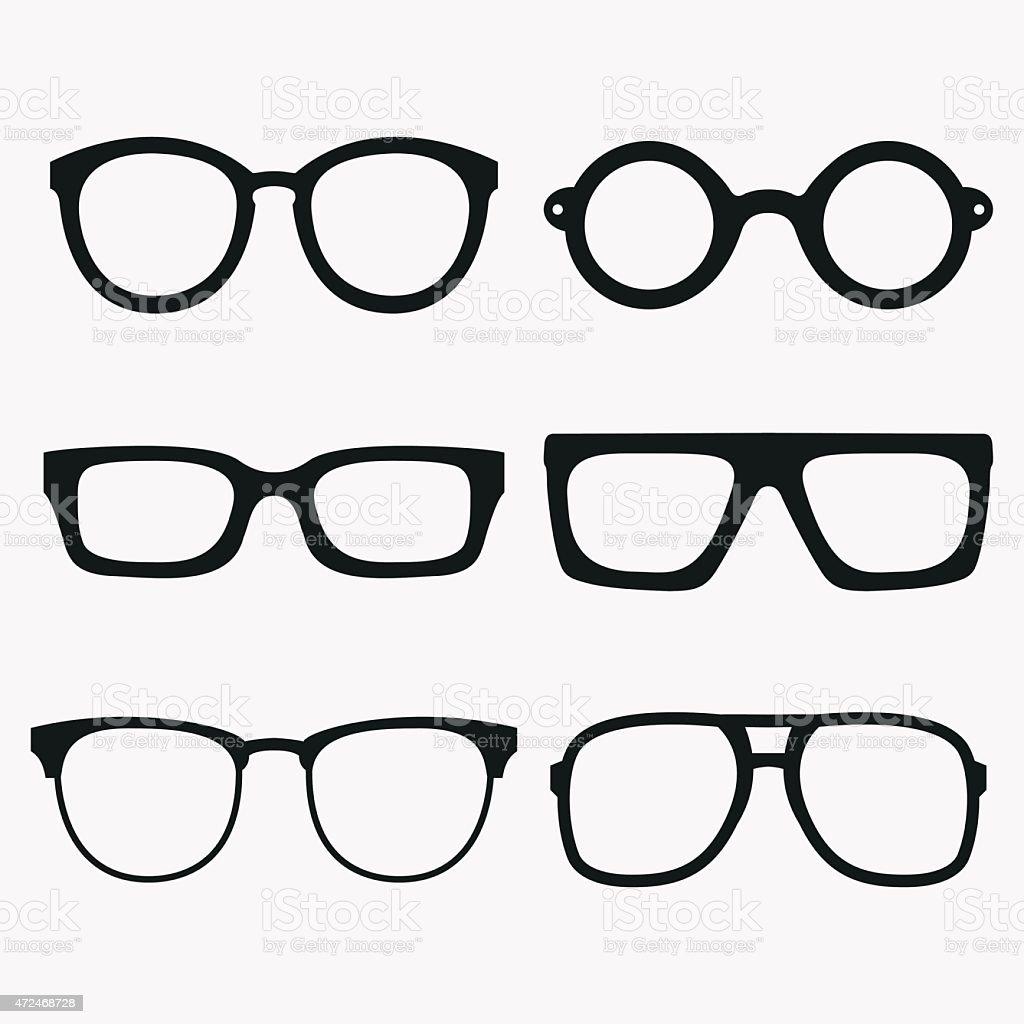Set of Vector Glasses Frames vector art illustration