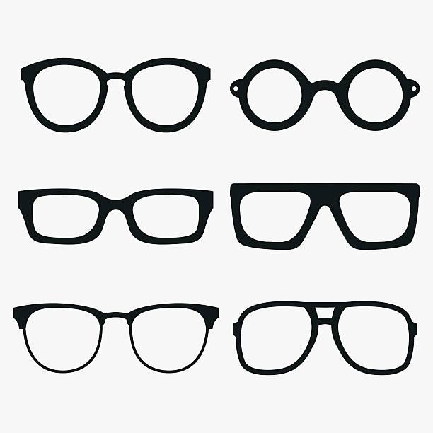 satz von vektor-brille bilder - palettenbilderrahmen stock-grafiken, -clipart, -cartoons und -symbole