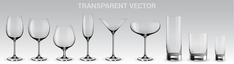Set of vector glasses