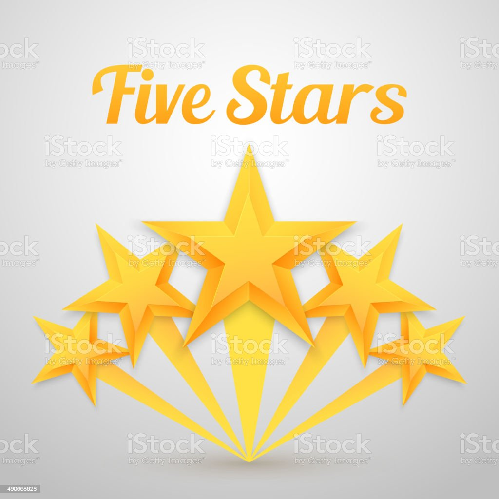 Set Of Vector Gold Stars Icon Five Stars Icon Template ...