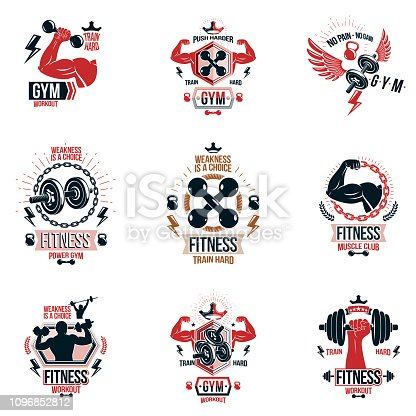 913419688istock Conjunto De Vector Emblemas De Ajuste Y