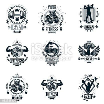 892328308istock Conjunto De Vector Emblemas De Ajuste Y