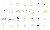 Set of vector hand drawn icons, domestic animals. Label templates for pets related business.