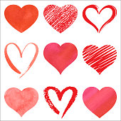 Hearts icons for Valentine's Day