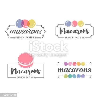 Set of vector icon design macaroons for shop, boutique, store