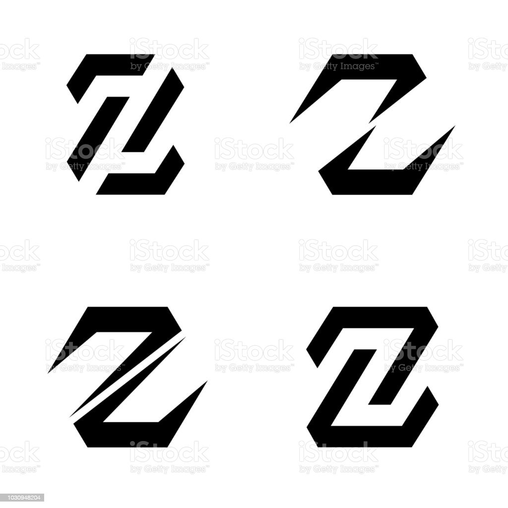 Set Of Vector Icon Design Template Letter Z Stock