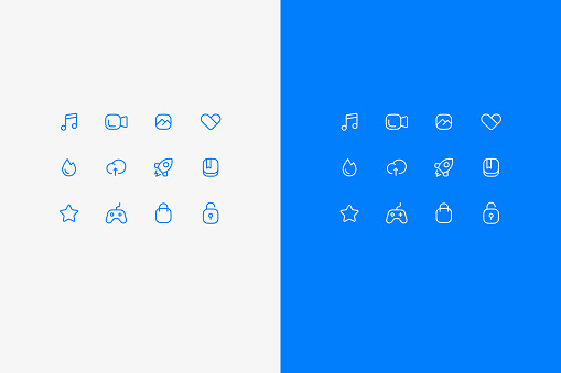 Set of vector icons about office