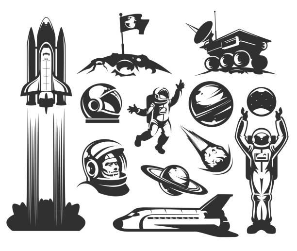 Set of vector icons space. - illustrazione arte vettoriale