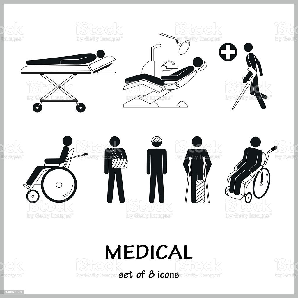 Set of vector icons vector art illustration