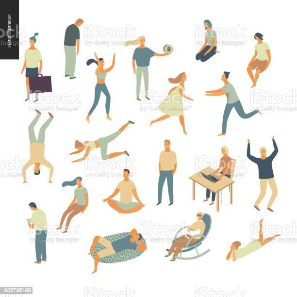 Set of vector illustrated people vector id935795166?b=1&k=6&m=935795166&s=612x612&h=h1y jf59gxaqljijecwtmm2v k4imyysmvvyczdi5pk=