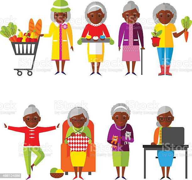 Set of vector illustration old woman in different situations vector id498124586?b=1&k=6&m=498124586&s=612x612&h=u9zlyvqv4dnvx9ofier4l6gqntjolpz 9tqmv6vcrio=