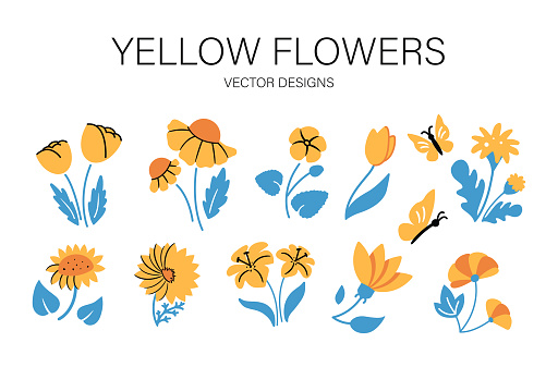 Set of vector illustrations for your spring and summer designs