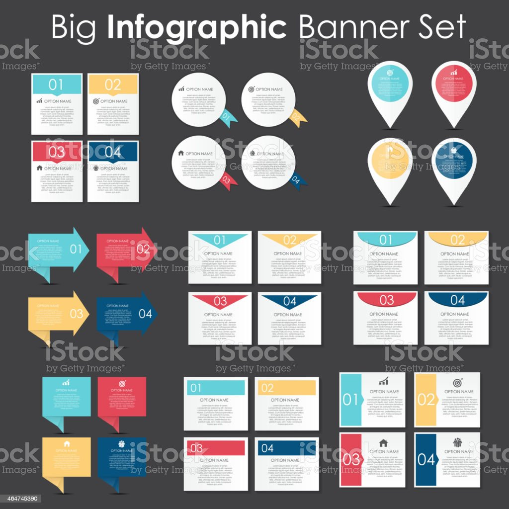 Set of vector illustrations of business banner templates vector art illustration