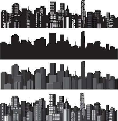Zestaw Miast Sylwetka Wektor - Stockowe grafiki wektorowe i więcej obrazów Architektura