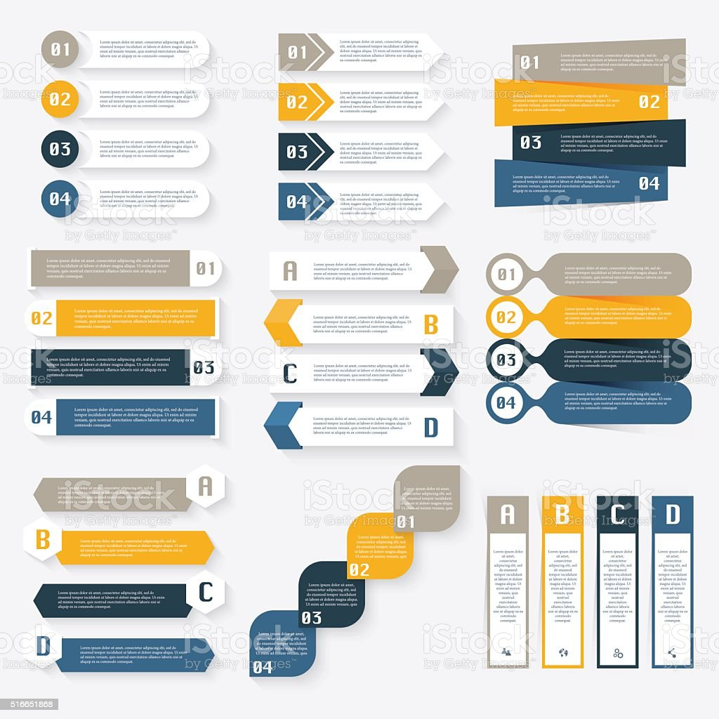 Set of vector infographics design template for your business pre vector art illustration