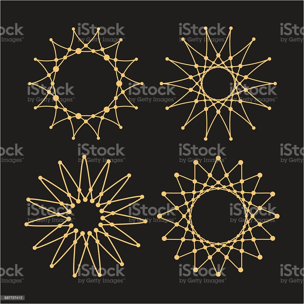 Set of vector lace frames design templates. vector art illustration