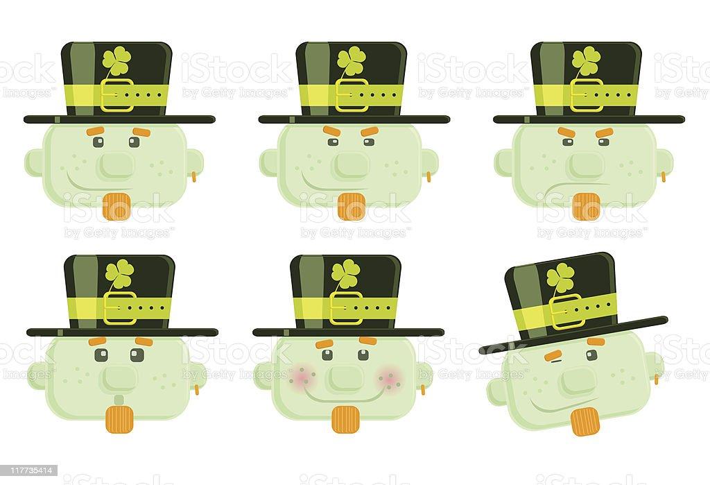 Set of vector leprechauns royalty-free stock vector art