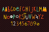 Set of vector letters for creating nice Halloween posters and invitations.