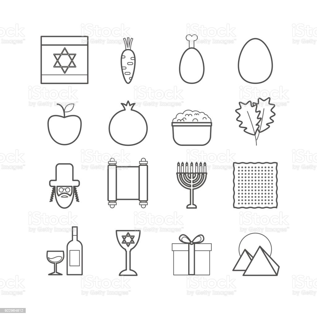 Set of vector line passover icons for web design vector art illustration